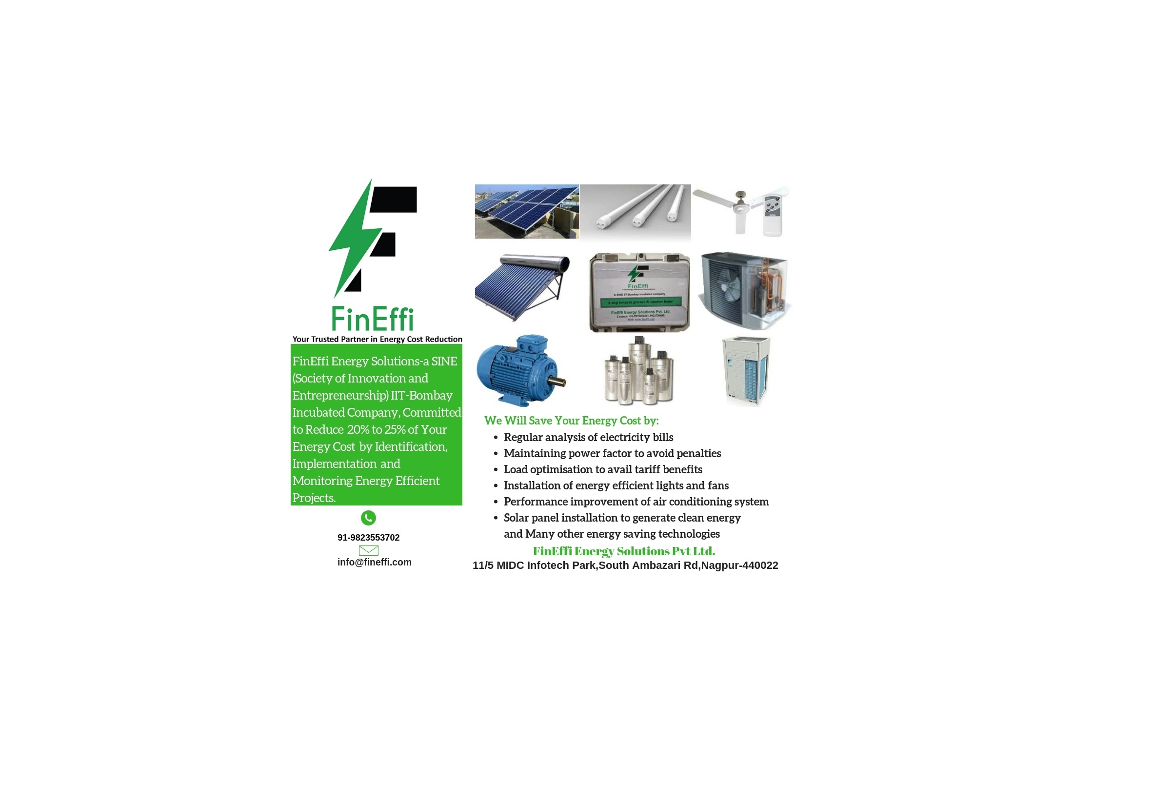 FinEffi Energy Solutions: Saving Electricity costs for